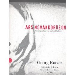 Katzner, Georg: Ertastete Räume : für Akkordeon und Klavier Spielpartitur