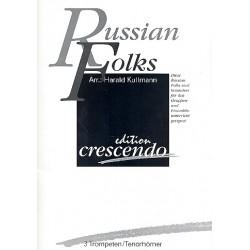 Russian Folks : für 3 Trompeten (Tenorhörner) Partitur und Stimmen