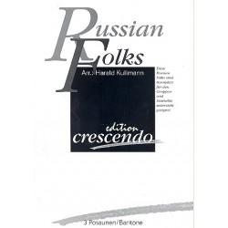 Russian Folks : f├╝r 3 Posaunen (Baritone) Partitur und Stimmen