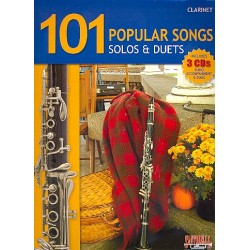 101 popular Songs (+ 3 CD's) : for 1-2 clarinets score