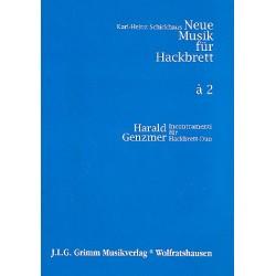 Genzmer, Harald: Incontramenti : für 2 Hackbretter 2 Spielpartituren