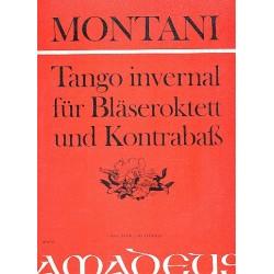 Montani, Pietro: Tango invernal für 2 Oboen, 2 Klarinetten, 2 Hörner, 2 Fagotte und Kontrabass Partitur und Stimmen