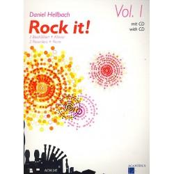 Hellbach, Daniel: Rock it Band 1 (+CD) : für 3 Blockflöten und Klavier Partitur und Stimmen
