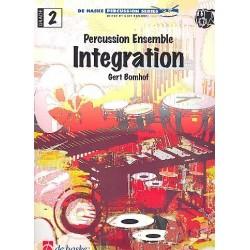 Bomhof, Gert: Integration : für Percussion Ensemble (4 Spieler) Partitur und Stimmen