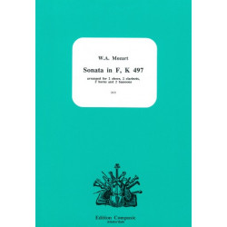 Mozart, Wolfgang Amadeus: Sonata F major KV497 for 2 oboes, 2 clarinets, 2 horns and 2 bassoons