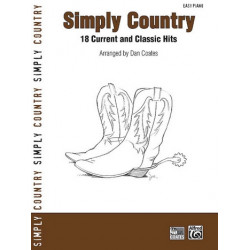 Simply Country : for easy piano (with text)