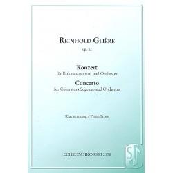 Glière, Reinhold: Konzert op.82 : für Koloratursopran und Orchester Klavierauszug
