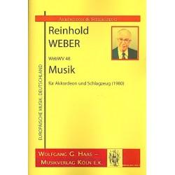 Weber, Reinhold: Musik WebWV48 : für Akkordeon und Schlagzeug (2 Spieler) Partitur und Stimmen