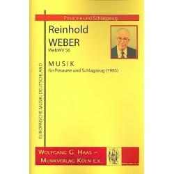 Weber, Reinhold: Musik WebWV56 für Posaune und Schlagzeug (2 Spieler) Partitur und Stimmen