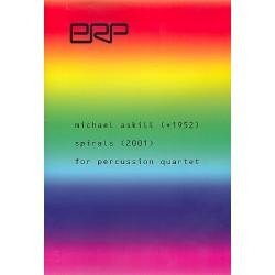Askill, Michael: Spirals : for percussion quartet score