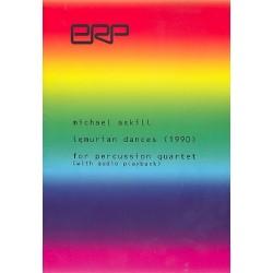 Askill, Michael: Lemurian Dances (+CD) : for percussion quartet score