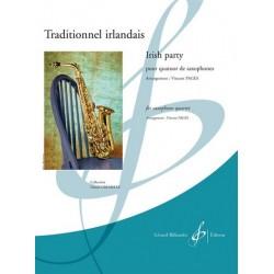 Traditionnel irlandais : pour 4 saxophones (SATBar) partition et parties