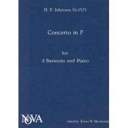 Johnsen, Hinrich Philip: Konzert F-Dur für 2 Fagotte und Streicher : für 2 Fagotte und Klavier Stimmen