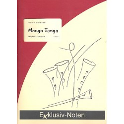 Frank, Bernd: Mango Tango : f├╝r 4 Saxophone (S(A)ATBar) Partitur und Stimmen