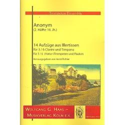 Anonymus: 14 Aufz├╝ge aus Illertissen : f├╝r 3-6 Naturtrompeten und Pauken Partitur und Stimmen