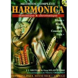 Milteau, J.J.: M├®thode compl├®te de Harmonica diatonique et chromatique (+CD)