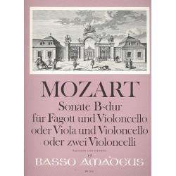 Mozart, Wolfgang Amadeus: Sonate B-Dur KV292 : für Fagott und Violoncello (Viola und Violoncello oder 2 Violonelli) Partitur