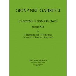 Gabrieli, Giovanni: Canzon Nr.8 : f├╝r 4 Trompeten und Posaunen (4 Trp, 2 Hrn, 2 Pos) Partitur+Stimmen