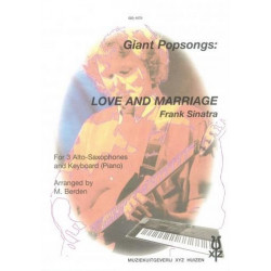 Sinatra, Frank: Love and Marriage : for 3 alto saxophones and keyboard (piano)