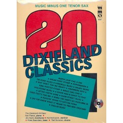 Music Minus One Tenor Sax (+CD) : 20 Dixieland Classics