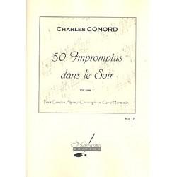 Conord, Charles: 50 Impromptus dans le soir vol.1 pour cor des Alpes (cor simple/cor d'harmonie)