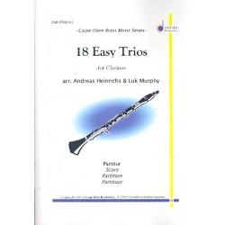 18 Easy Trios : für 3 Klarinetten Partitur und Stimmen