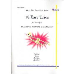 18 Easy Trios : für 3 Trompeten Partitur und Stimmen