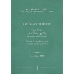 Holst, Gustav: Suite Es-Dur Nr.1 op.28 Fassungen für Militärorchester und für Kammerorchester Studienpartitur
