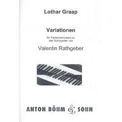 Graap, Lothar: Variationen zu 3 Schlagarien von Valentin Rathgeber : f├╝r Tasteninstrument