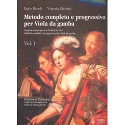 Biordi, Paolo: Metodo completo e progressivo vol.1 : per viola da gamba (ft/it/en)