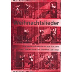 Schlenker, Manfred: 3 Weihnachtslieder-Suiten : für Favorit- und Kapell-Bläserchor Favoritchor-Partitur (Mindestabnahme 4 Ex)