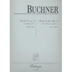 Buchner, Philipp Friedrich: Sonate op.4,9 : f├╝r 2 Fagotte und Bc Partitur und Stimmen