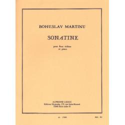 Martinu, Bohuslav: Sonatine : pour 2 violons et piano