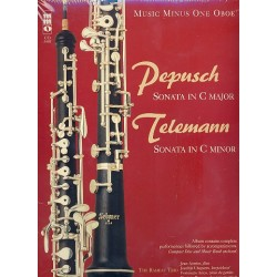 Music minus one Oboe - Pepusch and Telemann (+CD) : oboe part