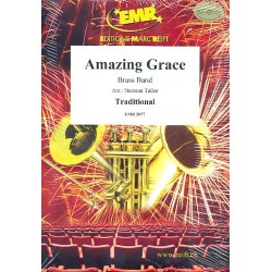 Amazing Grace : for brass band score and parts