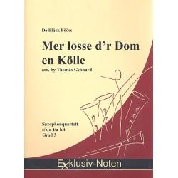Engel, Thomas Richard (Tommy): Mer losse d'r Dom en Kölle : für 4 Saxophone Partitur und Stimmen