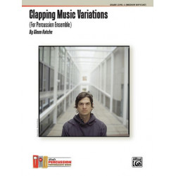 Kotche, Glenn: Clapping Music Variations for percussion ensemble (11-13 players) score and parts
