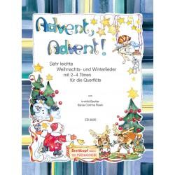 Beutler, Irmhild: Advent Advent : für 1-2 Flöten (Klavier/Gitarre ad lib) Spielpartitur und Klavierbegleitung