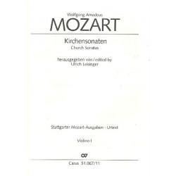 Mozart, Wolfgang Amadeus: Sämtliche Kirchensonaten : für 2 Violinen und Bc Violine 1
