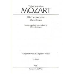 Mozart, Wolfgang Amadeus: Sämtliche Kirchensonaten : für 2 Violinen und Bc Violine 2