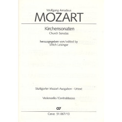 Mozart, Wolfgang Amadeus: Sämtliche Kirchensonaten : für 2 Violinen und Bc Violoncello/Kontrabass