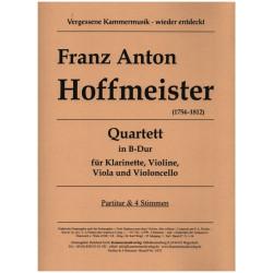 Hoffmeister, Franz Anton: Quartett B-Dur für Klarinette, Violine, Viola und Violoncello Partitur und Stimmen