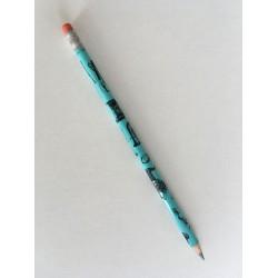 Bleistift Instrumente und roter Radiergummi (blau)