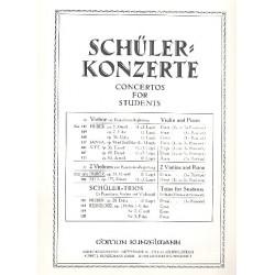 Huber, Gustav Adolf: Konzertino g-Moll op.11 : für 2 Violinen und Klavier