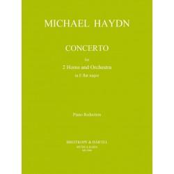 Haydn, Johann Michael: Konzert Es-Dur für 2 Hörner und Orchester : für 2 Hörner und Klavier