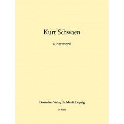 Schwaen, Kurt: 4 Intermezzi : f├╝r Posaune und Streichorchester Partitur