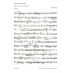 Schwaen, Kurt: 4 Intermezzi : f├╝r Posaune und Streichorchester Posaune