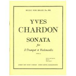 Chardon, Yves: Sonate op.21 : für Trompete und Violoncello Partitur und Stimmen