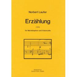 Laufer, Norbert: Erzählung : für Marimbaphon und Violoncello Partitur und Stimme