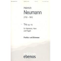 Neumann, Heinrich: Trio op.40 : f├╝r Klarinette, Horn und Fagott Partitur und Stimmen